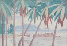 Painting: 'A View Across Fisherman's Cove, Seychelles'