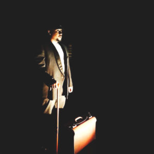 Tony Miyambo in 'Kafka's Ape' at the Alexander Theatre