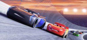 Cars 3 - Jackson Storm voiced by Armie Hammer, Lightning McQueen voiced Owen Wilson