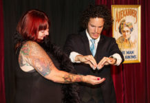 Bianca Coleman with magician Jesse Brooks. Pic: Andrew Goreman