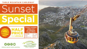 Table Mountain Cableway book tickets Sunset Special,