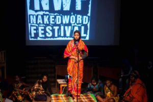 Afeefaa Omar, Western Cape Provincial Slam Champion at Naked Word Festival 2017