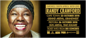 Randy Crawford SA Tour DATES AND TICKETS
