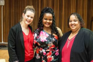 Co-founders of Lady Day Big Band Amanda Tiffiin, Lana Crowster and Kelly Bell
