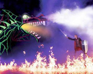 Disney on Ice Dream Big, Dragon and Sleeping Beauty. Picture: Disney