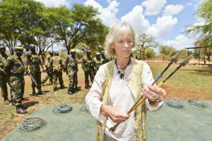 Virginia McKenna. Picture: Land Rover. Born Free Elephants in Crisis appeal - what you can do