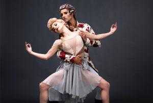 Mozart & Salieri Maxime Quiroga (Mozart) with Laura Bosenberg (Constanze). Picture: Michael Groenewald