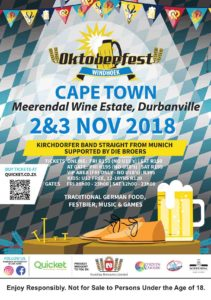 Windhoek Oktoberfest Cape Town tickets 2018