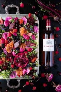 Roodeberg Rosé offset by delicious home-cured trout