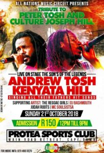 Andrew Tosh Kenyata Hill tickets