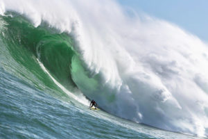 Cape Town surfer Matt Bromley rides a giant wave off Kommetjie. Picture: Alan van Gysen