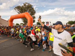 An enthusiastic start at The Gugulethu Reconciliation Race