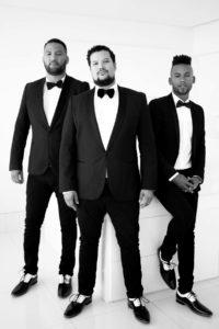 Chad Saaiman, Lloyd Jansen and Keeno Lee are The Black Ties