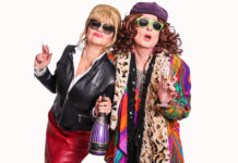 Julie Summers as Joanna Lumley and Bernie Jacobs as Jennifer Saunders in Ab Fab by Constantia Theatre Players