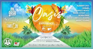 Oasis Experience tickets – Live in the Garden with Mi Casa, Goodluck, TiMO ODV