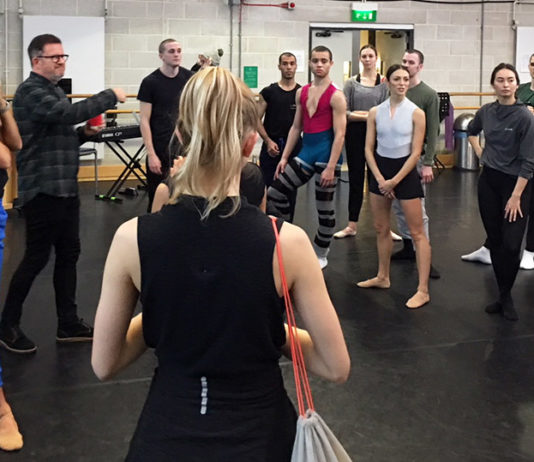 Matthew Bourne's New Adventures Company during their Swan Lake season at Sadlers Wells
