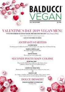 Balducci Valentines Day Vegan Dinner Menu