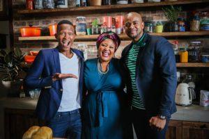 Celeb Feasts with Zola - Katlego Maboe, Zola Nene and Stephen Tsebela