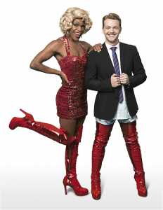 Kinky Boots cast at the Fugard