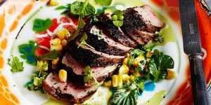 Lamb churrasco - Interactive Cooking with Jade De Waal and Salsa Dancing with Thabo Moloto