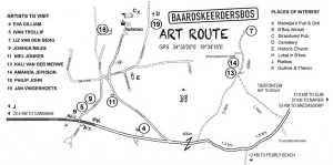 Baardskeerdersbos Arts route Map