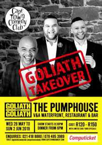 It's a Goliath Takeover at The Cape Town Comedy Club