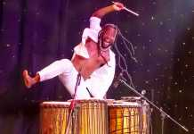 Emmanuel Quaye in Drumstruck at Dollywood, US. Picture Shin Kurokawa