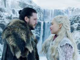 Jon Snow and Daenyrys Targaryen in GOT Season 8 Game of Thrones Season 8 Episode 1. Picture: HBO