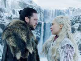 Jon Snow and Daenyrys Targaryen in GOT Season 8 Game of Thrones Season 8 Episode 1. Picture: HBO