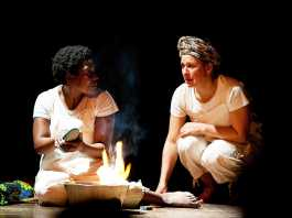 Jennie Reznek and Faniswa Yisa in the Magnet Theatre Every Year, Every Day, I am Walking play. Picture Hennie Coetzee