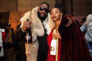 Oh My Gosh it's Rick Ross and Yemi Alade with Belaire sparkling wine and Bumbu rum