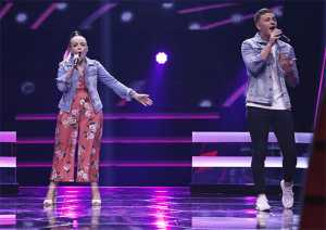 Amy Tjasnik and Joshua Parker at The Voice South Africa Battles