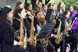 The Wynberg Girls High School Big Band perform at The Cape Town Big Band Jazz Festival 2019