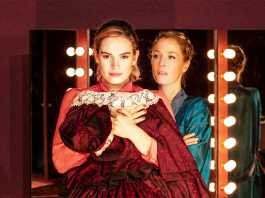 Lily James and Gillian Anderson in All About Eve NT Live