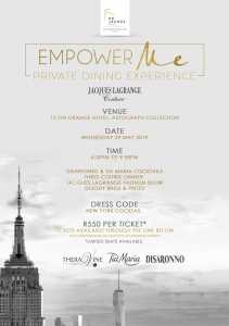Empower Me private dining experience