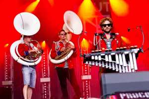 Techno marching band Meute plays at Zakifo Festival 2019
