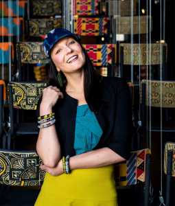 Tracy Lynch appears at 100% Design South Africa. Picture: Theana Breugem