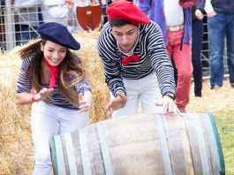 The Porcupine Ridge Barrel Rolling Competition at the Franschhoek Bastille Festival