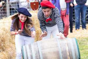 The Porcupine Ridge Barrel Rolling Competition at the Franschhoek Bastille Festival