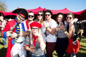 Enjoy gourmet food and wine at the Franschhoek Bastille Festival