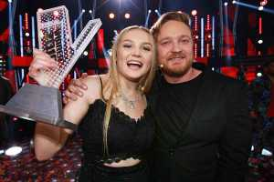 The Voice South Africa winner Tasché Burger with Francois Van Coke