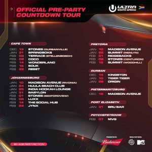 Ultra South Africa Pre-Party Countdown Tour