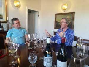 Welgegund winemaker Friedrich Kühne with marketing manager Emy Mathews. Picture: Karen Watkins