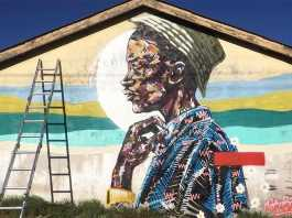Artist Skubalisto showcases a lumo paint graffiti wall