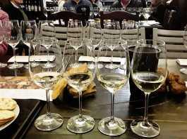 Tasting the three Secrets of Sauvignon collection with the standard release Black Oystercatcher Sauvignon Blanc 2018. Picture: Karen Watkins