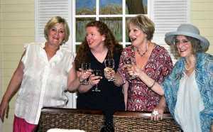 Randa, Marlafaye, Jinx and Dot in The Savanna Sipping Society. Picture: Jane Amory