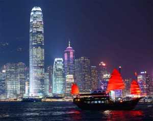 The Norwegian Cruise Line Norwegian Jade facilitates a Hong Kong cruise