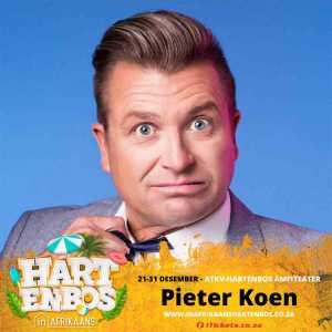 Pieter Koen is on the Hartenbos in Afrikaans 2019 bill
