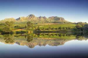 Stellenbosch Wine Routes - dramatic landscapes, mountains, vineyard covered hills