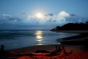Tofo Beach in Mozambique at night